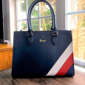 🌺HP🌺 Used Once! 🇬🇧 Harrod's Union Jack Bag!!!
